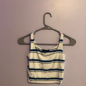 Blue and white stripe Kendall and kylie tank top